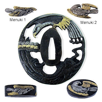 MF6033 - Osprey Handmade Tsuba & Furniture Set